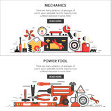 Механики, инструменты Стоковое Изображение RF