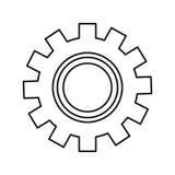 Механики шестерни на белой предпосылке иллюстрация штока