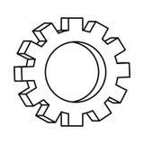 Механики шестерни на белой предпосылке иллюстрация вектора
