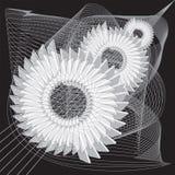 Механическая абстрактная предпосылка Стилизованные изображения шестерней иллюстрация вектора