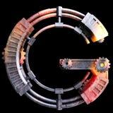 Механически алфавит сделанный от утюга Стоковые Изображения