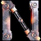 Механически алфавит сделанный от утюга Стоковые Фотографии RF