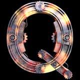 Механически алфавит сделанный от утюга Стоковые Фото