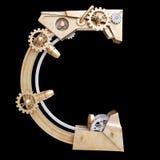 Механически алфавит сделанный от утюга Стоковые Изображения RF