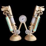 Механически алфавит сделанный от утюга Стоковое фото RF