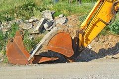 Механически землекопы рука и ведро Стоковые Фото