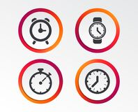 Механически значки времени часов Таймер секундомера Стоковая Фотография