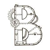 Механически иллюстрация вектора гравировки b письма Стоковые Изображения RF