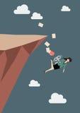 Механически падение бизнес-леди в хлябь Стоковые Фотографии RF