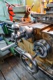 Механически управление экипажа колеса Стоковое Изображение