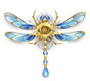 Механически dragonfly на белой предпосылке Стоковые Фотографии RF
