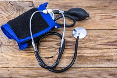 Механически tonometer кровяного давления стоковые фото