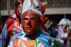 Мехико, Мексика 12-ое декабря 2017: Паломники празднуют праздненства на базилике Guadalupe Стоковые Фотографии RF