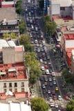 МЕХИКО - ОКОЛО МАЙ 2013: Бульвар централи Eje панорамного взгляда Стоковые Изображения RF