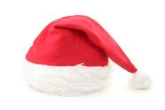 меховой красный цвет santa шлема Стоковые Фотографии RF