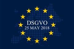 Мех Unternehmen DSGVO Datenschutz Grundverordnung Стоковые Фото