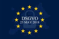 Мех Unternehmen DSGVO Datenschutz Grundverordnung Стоковая Фотография