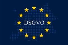 Мех Unternehmen DSGVO Datenschutz Grundverordnung Стоковое Изображение