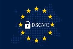 Мех Unternehmen DSGVO Datenschutz Grundverordnung Стоковая Фотография RF
