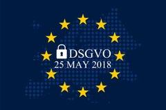 Мех Unternehmen DSGVO Datenschutz Grundverordnung Стоковое Изображение RF