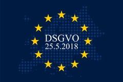 Мех Unternehmen DSGVO Datenschutz Grundverordnung Стоковое Фото