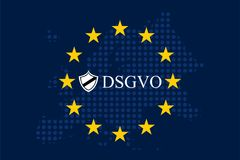Мех Unternehmen DSGVO Datenschutz Grundverordnung Стоковые Изображения