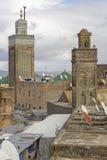 2 мечети в городе Fes, Марокко Стоковое фото RF