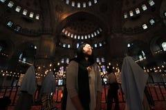 мечеть верующего угла голубая широко Стоковое фото RF