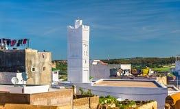 Мечеть в городке Azemmour, Марокко Стоковая Фотография RF