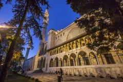 Мечеть в ноче Стоковые Изображения