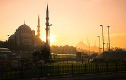 Мечеть в Стамбуле на заходе солнца Стоковое фото RF