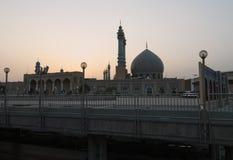 Мечеть в Qom Восход солнца в Иране Стоковые Фото