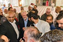 Мечеть Джереми Corbyn посещая Стоковое фото RF