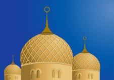Мечеть и голубое небо - вектор Стоковые Изображения RF