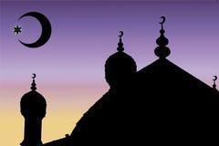 Мечеть и минарет вектора иллюстрация вектора