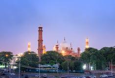 Мечеть Лахор Пакистан Badshahi Стоковое Изображение