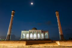 Мечеть на ноче Стоковые Изображения RF