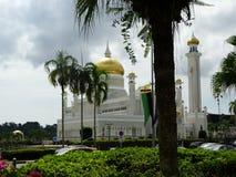 Мечеть Омара Али Saifudding султана, Bandar Seri Begawan, Бруней стоковое изображение