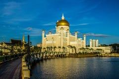 Мечеть Омара Али Saifuddien султана Стоковая Фотография RF