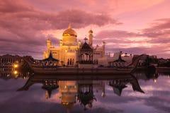 Мечеть Омара Али Saifuddien Стоковое Фото
