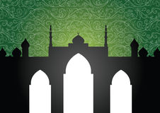 мечеть предпосылки иллюстрация вектора