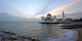 Мечеть проливов Melaka стоковые изображения rf