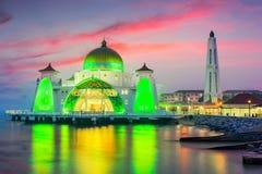 Мечеть проливов Малаккы Стоковые Фотографии RF