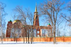 Мечеть собора в дне зимы солнечном в самаре Стоковые Фотографии RF