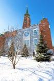 Мечеть собора в дне зимы солнечном в самаре стоковое изображение