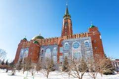 Мечеть собора в дне зимы солнечном в самаре Стоковые Изображения