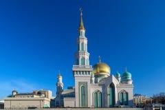Мечеть собора Москвы в солнечном дне Архитектура, ислам стоковое изображение
