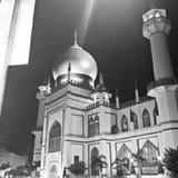 Мечеть султана на очаровании Сингапуре Kampong стоковая фотография