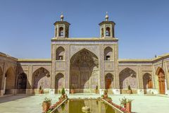 Мечеть 07 Шираза розовая стоковое изображение