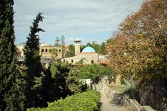 Мечеть Abdul Majid султана в Byblos, Ливане стоковые изображения rf